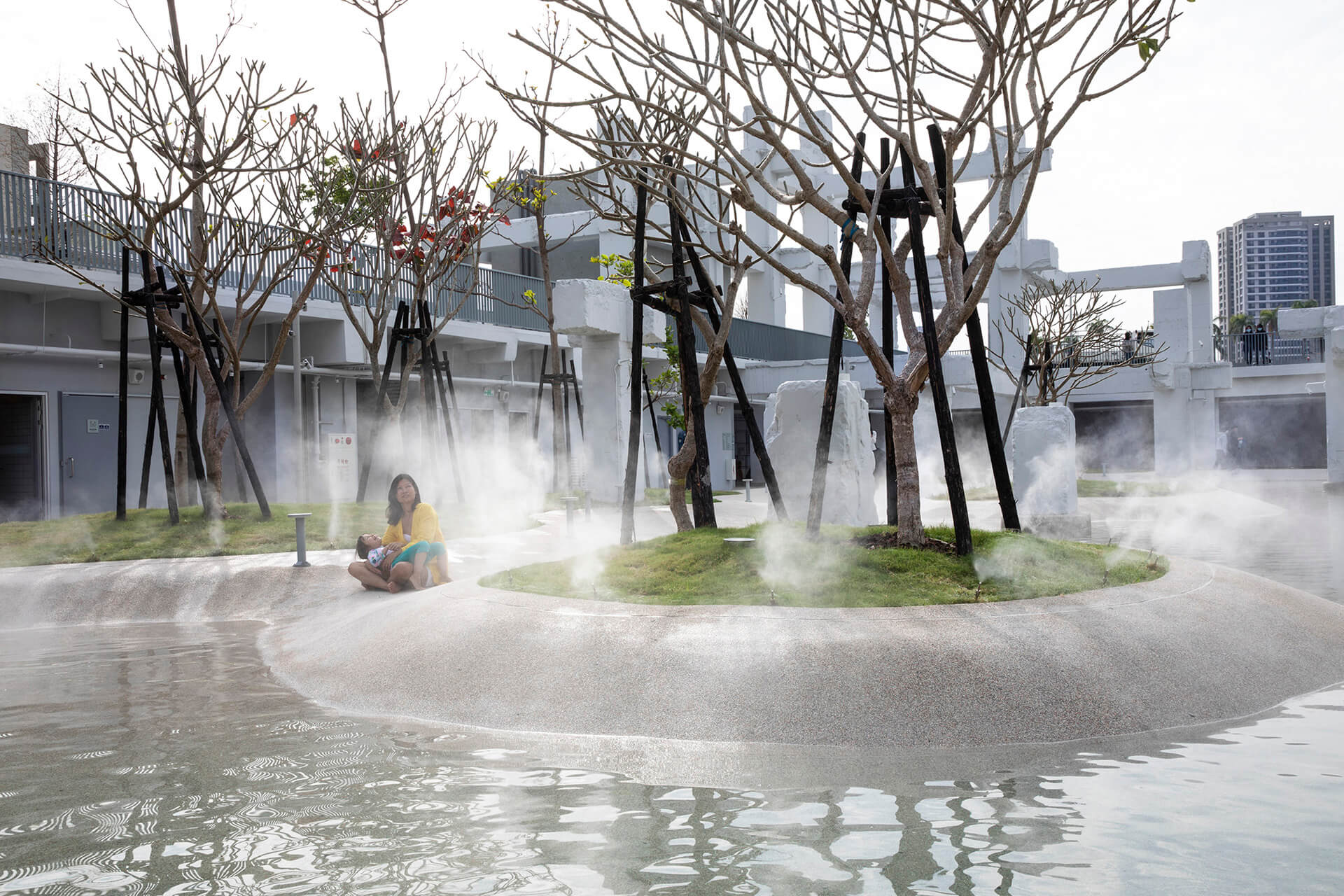 The public pool's water level will vary according to passing seasons | MVRDV's Tainan Spring is an urban lagoon in Tainan, Taiwan | STIRworld