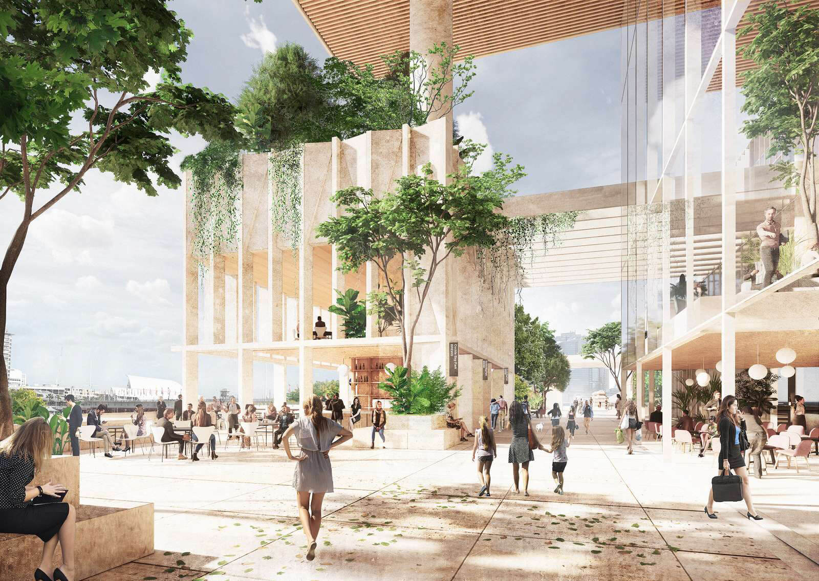 The retail plinth on the ground floor | Cockle Bay Park | Henning Larsen | STIRworld