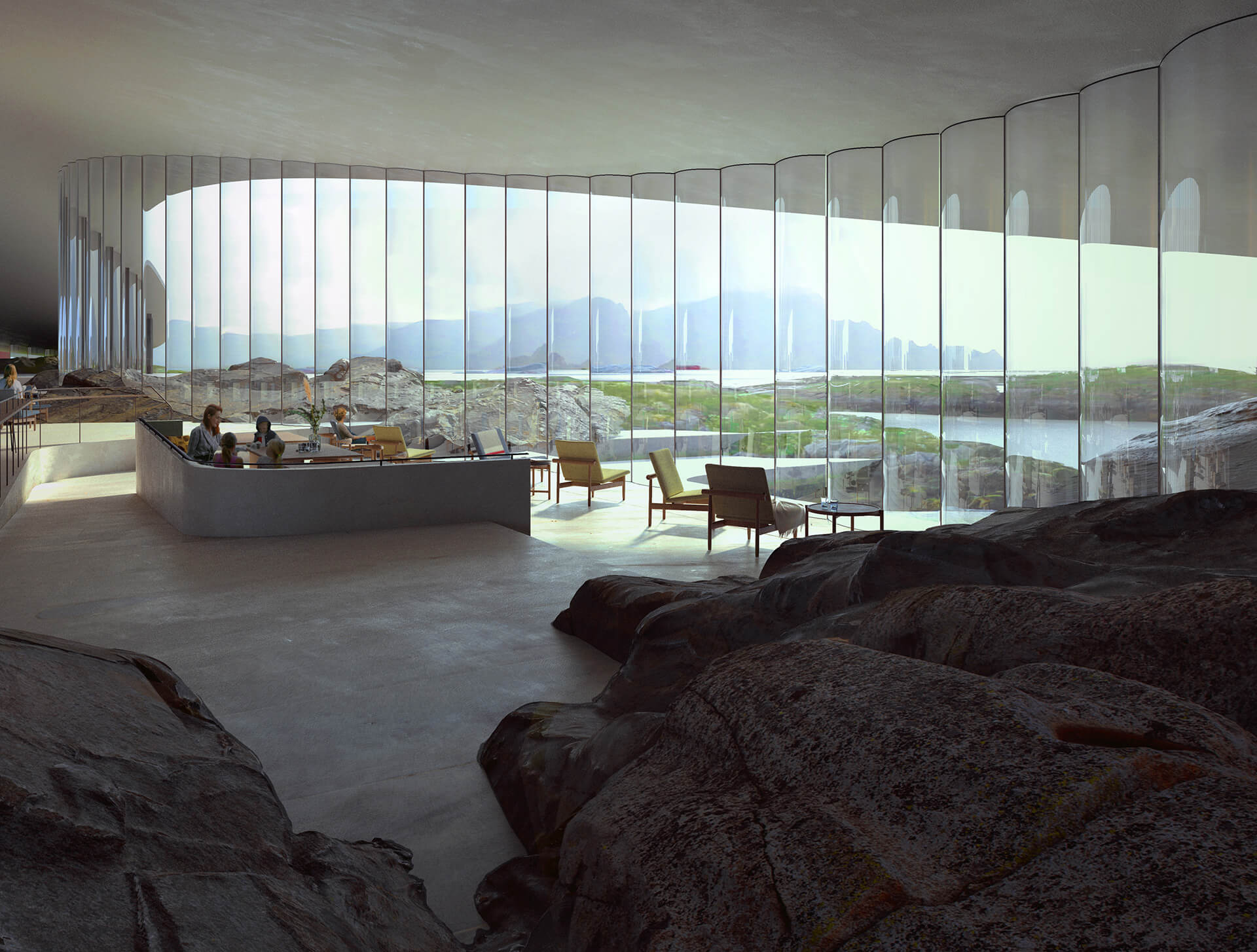Large windows etched on The Whale open towards the archipelago, providing stunning views | The Whale by Denmark based Dorte Mandrup | STIRworld