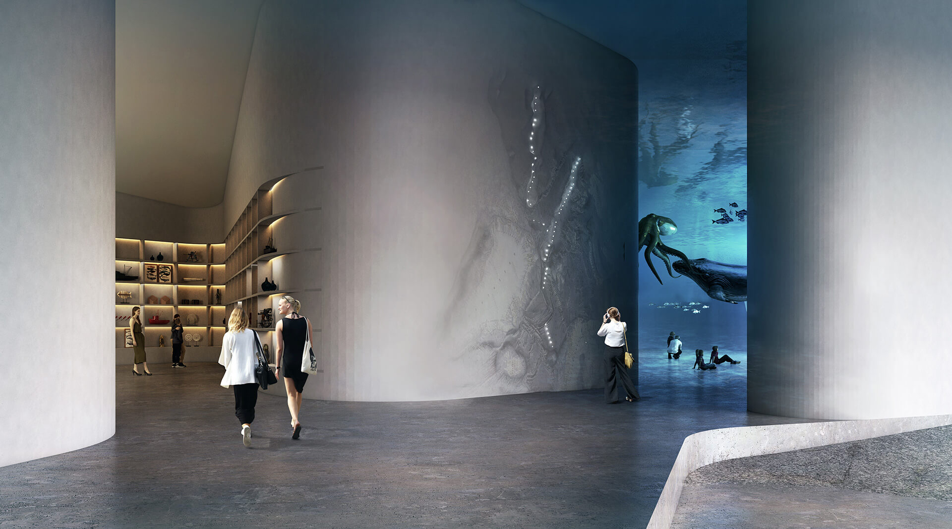 The Whale has a large, column-less interior – the exhibition spaces | The Whale by Denmark based Dorte Mandrup | STIRworld