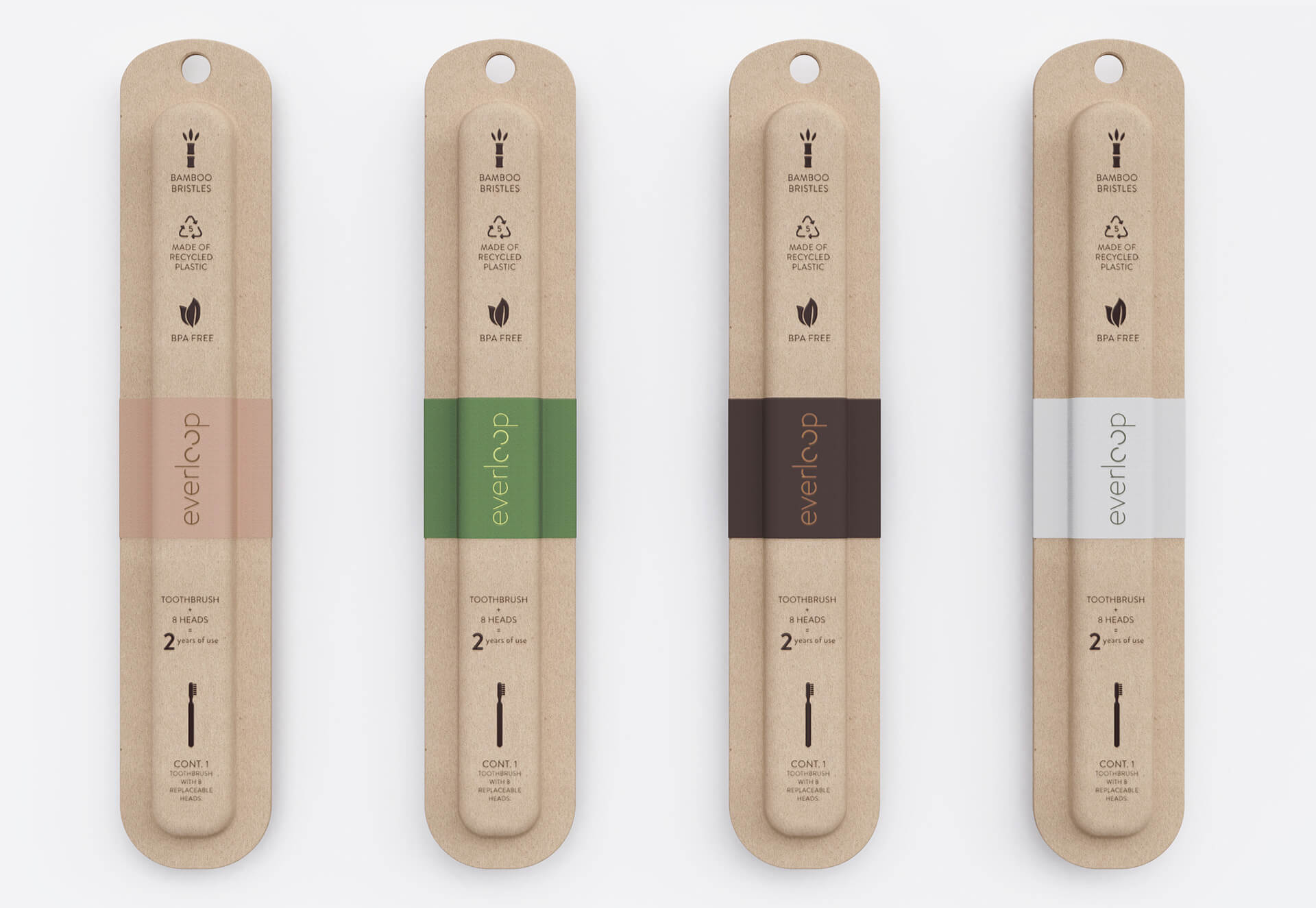 The packaging made of thermoformed paper pulp | Everloop Toothbrush | NOS | STIRworld