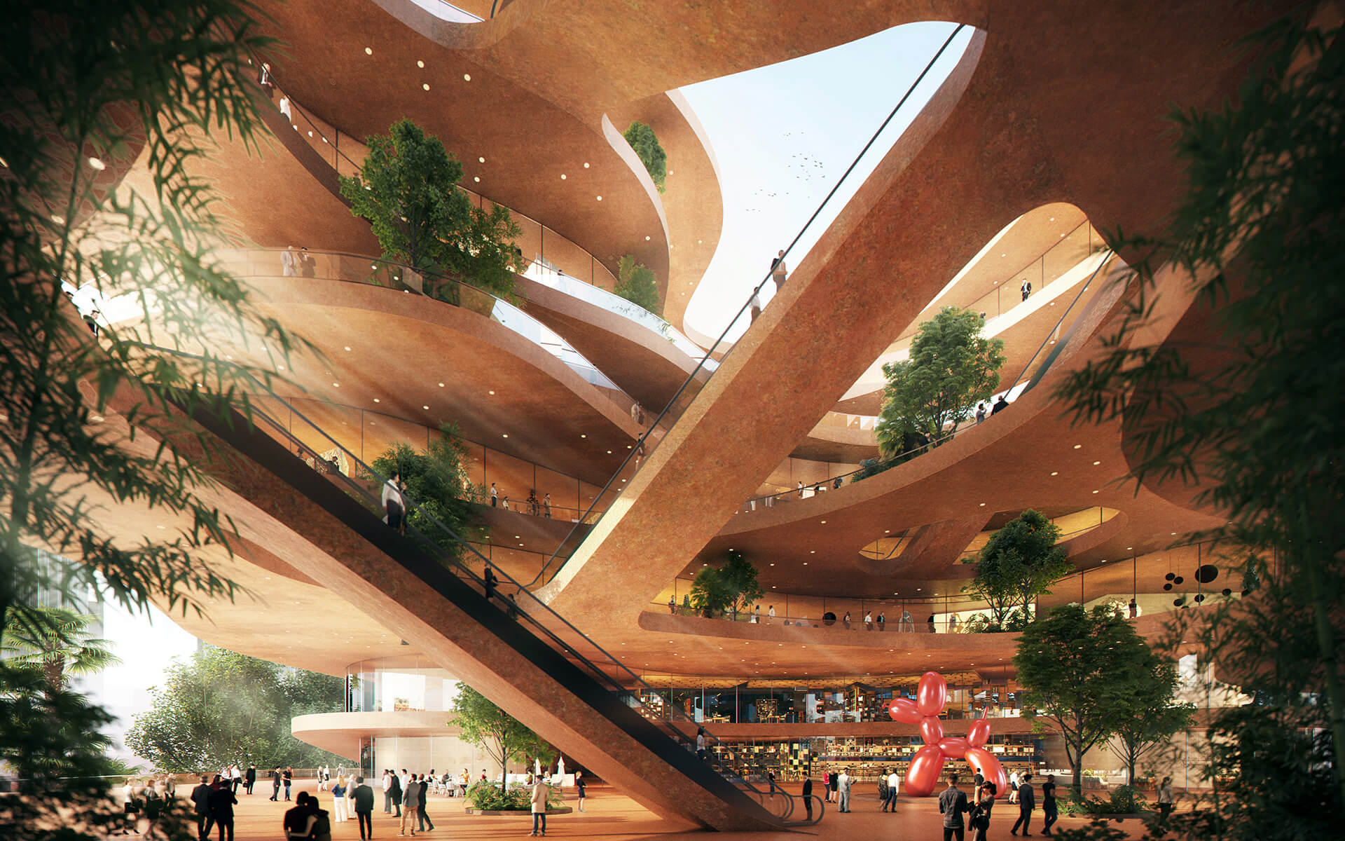Complex interconnected terraces in the atrium space | MVRDV | Shenzhen | STIRworld