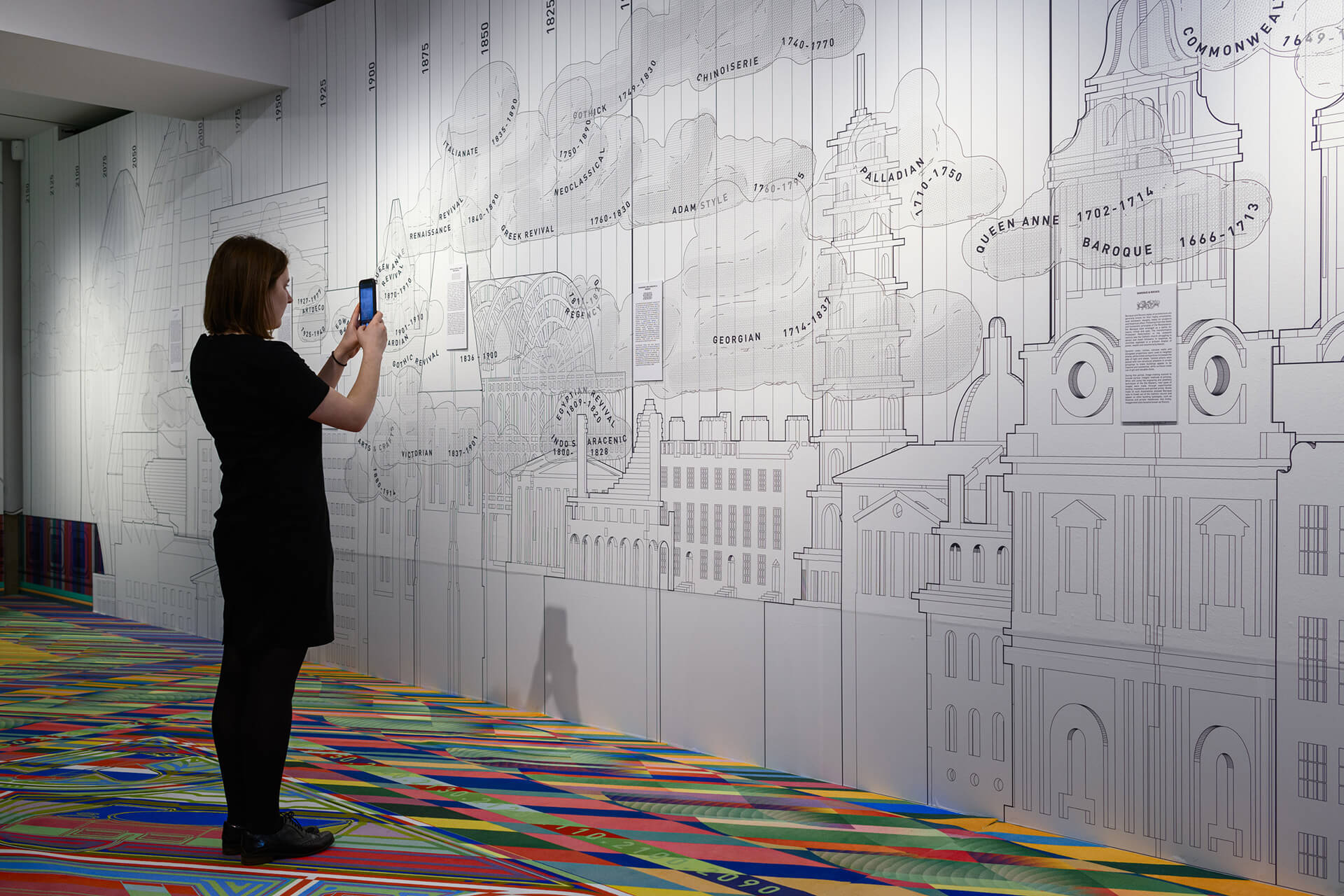 The wall exhibit created using works from RIBA collection |  Freestyle | Space Popular | STIRworld