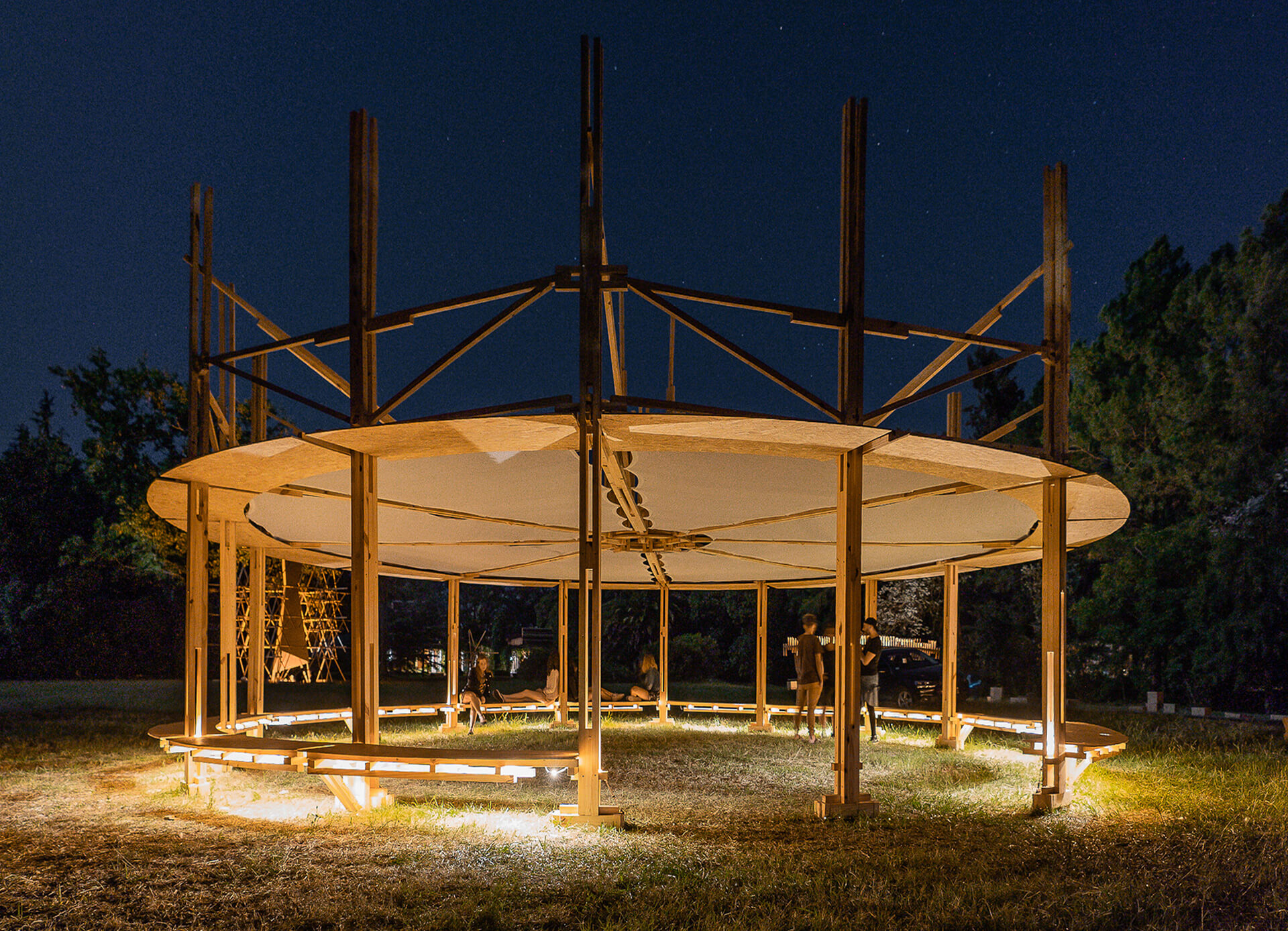 Project Carpa Itinerante was used as an architectural intervention for the traveling community | Hello Wood Festival | Installations in Wood | STIRworld