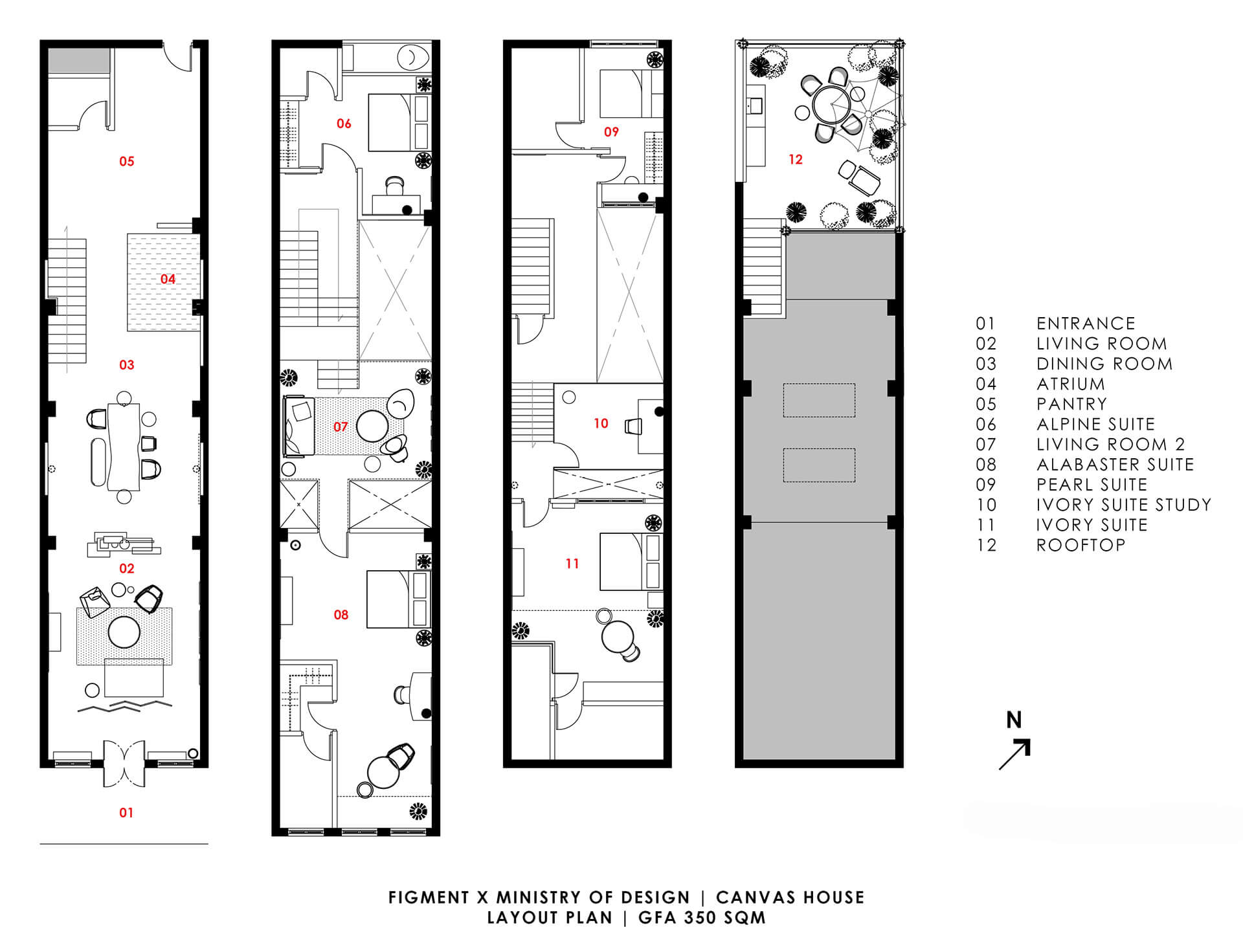 The Canvas House – Concept and Plan | Canvas House in Singapore by Ministry of Design | STIRworld