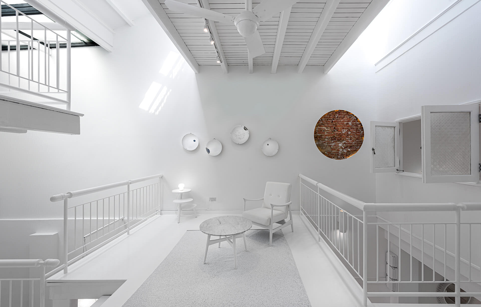 Most of the Canvas House is rendered in white | Canvas House in Singapore by Ministry of Design | STIRworld