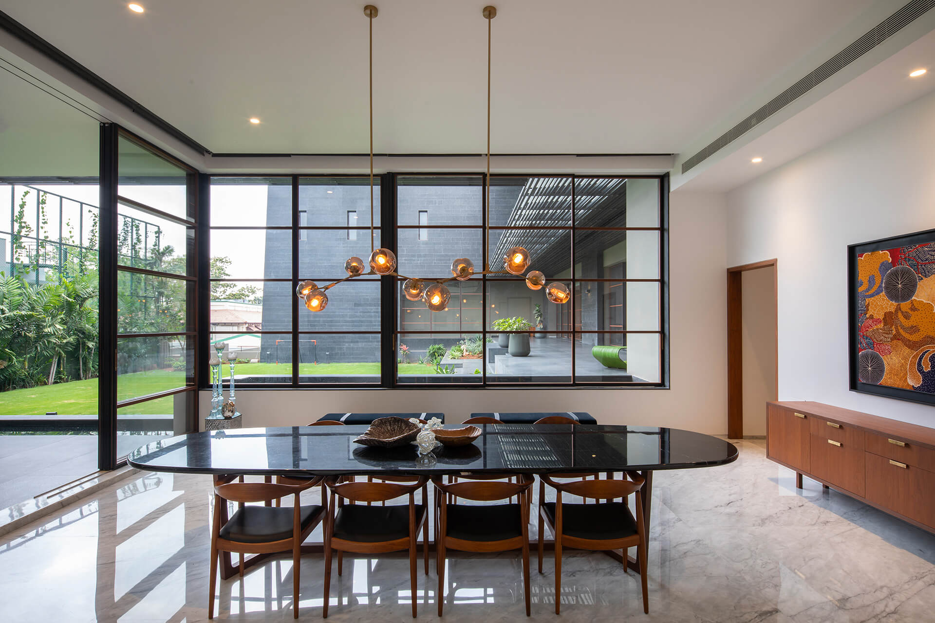 Dining area | Black Bastion House| Spasm Design | STIRworld