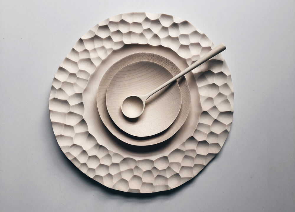 Luke Hope's crater plate and spoon | Luke Hope | 10 wood sculptors you should know | STIRworld