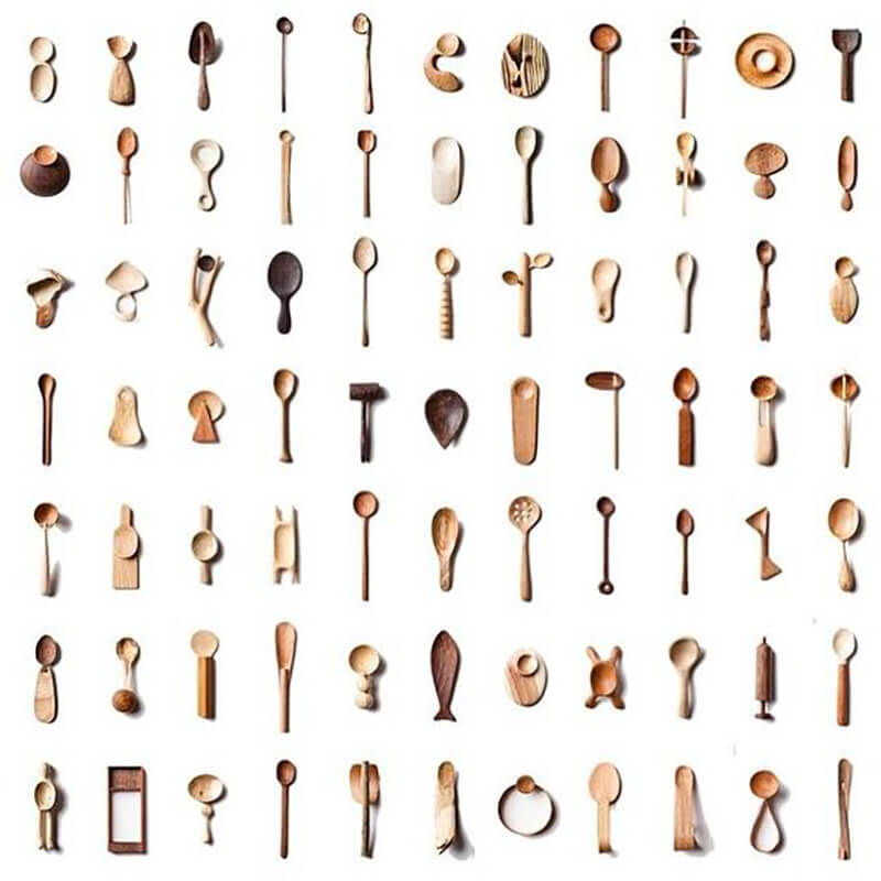 The Daily Spoon collection by Stian Korntved Ruud features 365 hand carved spoons | Stian Korntved Ruud| 10 wood sculptors you should know | STIRworld