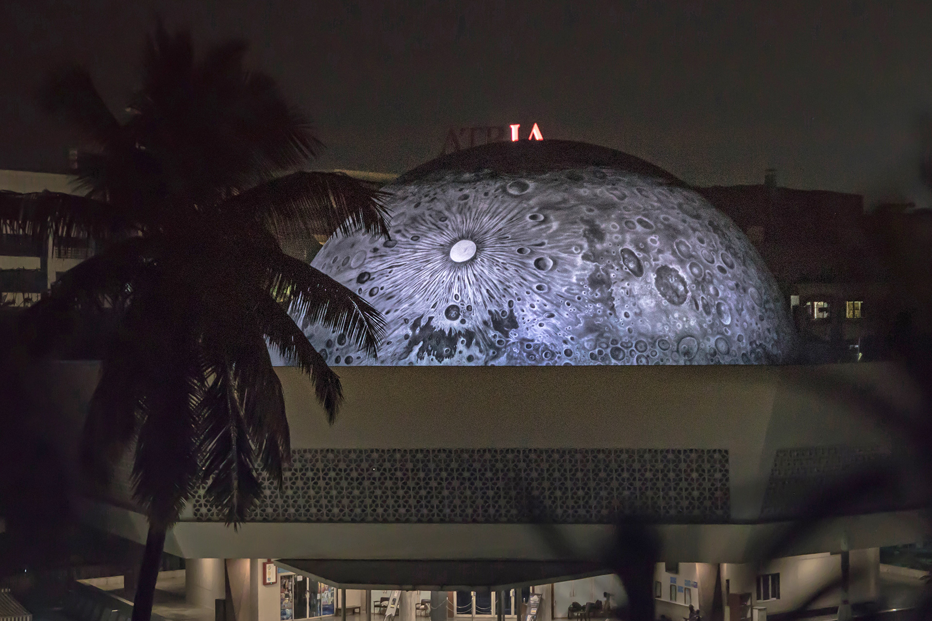 The Lunar Dome at night | Lunar Dome | Asian Paints | Sideways| St+Art India | STIRworld