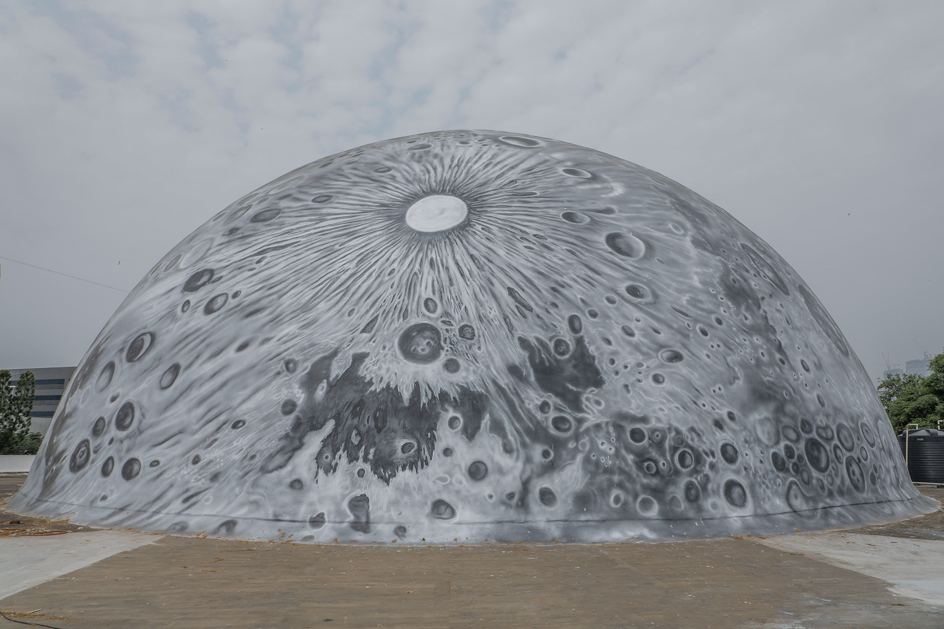 The Lunar Dome up close | Lunar Dome | Asian Paints | Sideways| St+Art| STIRworld