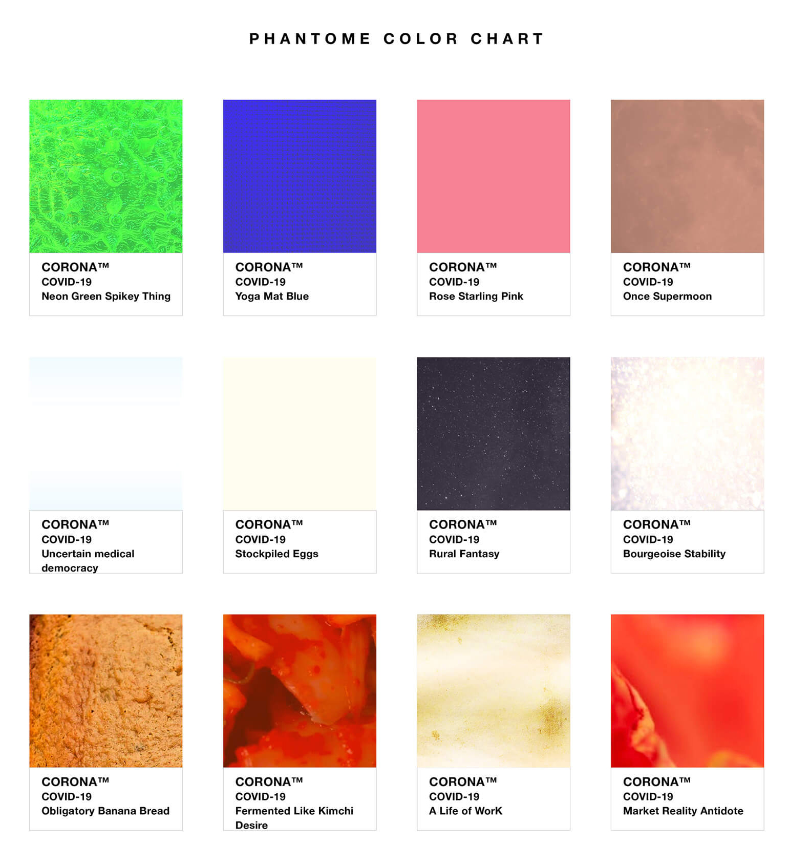 The 12 shades of the new corona colour palette | Pantone to Phantome: A new colour chart for the post-COVID world | Designer/Artist/Architect | STIRworld