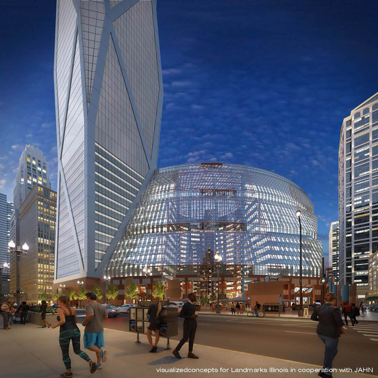 The new development as visualised from the outside | James R. Thompson Center by Helmut Jahn | STIRworld