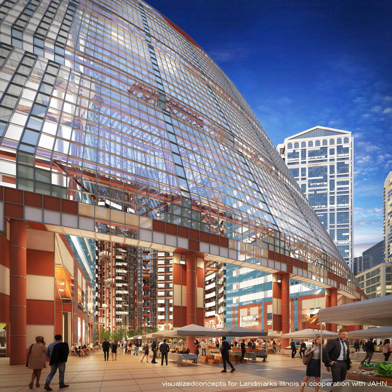 Proposed new plan for the sensitive repurposing of the Thompson Center | James R. Thompson Center by Helmut Jahn | STIRworld