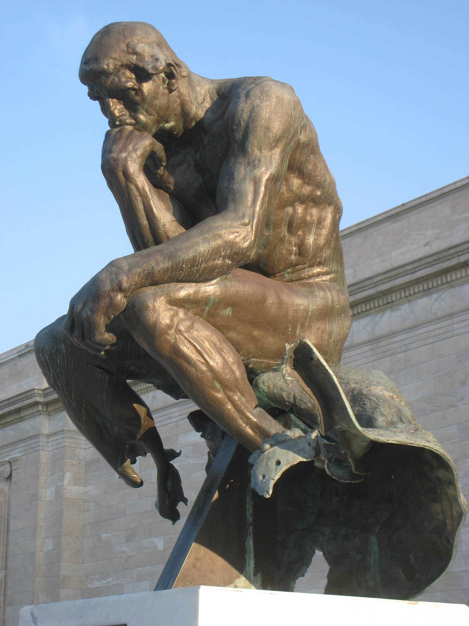 Auguste Rodin's Thinker was damaged at the Cleveland Museum of Art, Cleveland, Ohio, US | STIRworld