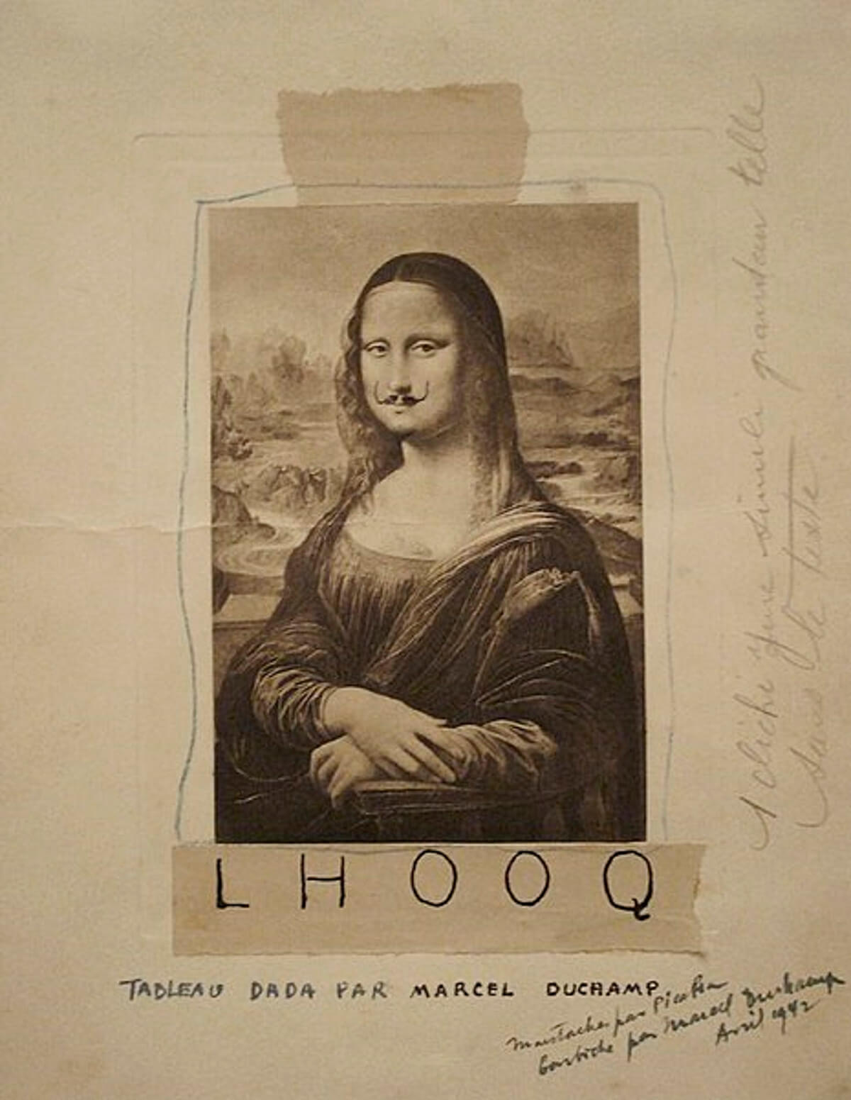 Mona Lisa with a moustache (LHOOQ) by Marcel Duchamp | STIRworld