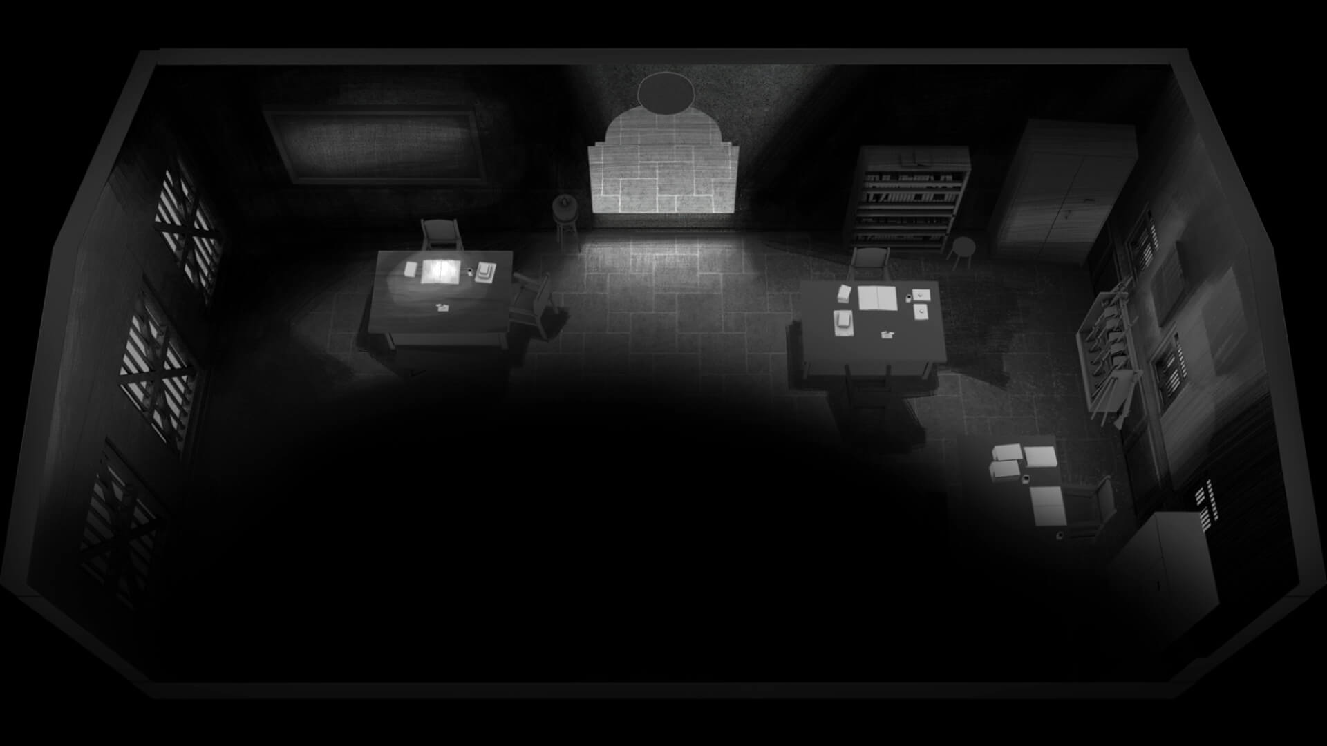 The black and white video game is an interactive piece of murder mystery fiction | Death of a Detective by The Roots Collective | STIRworld