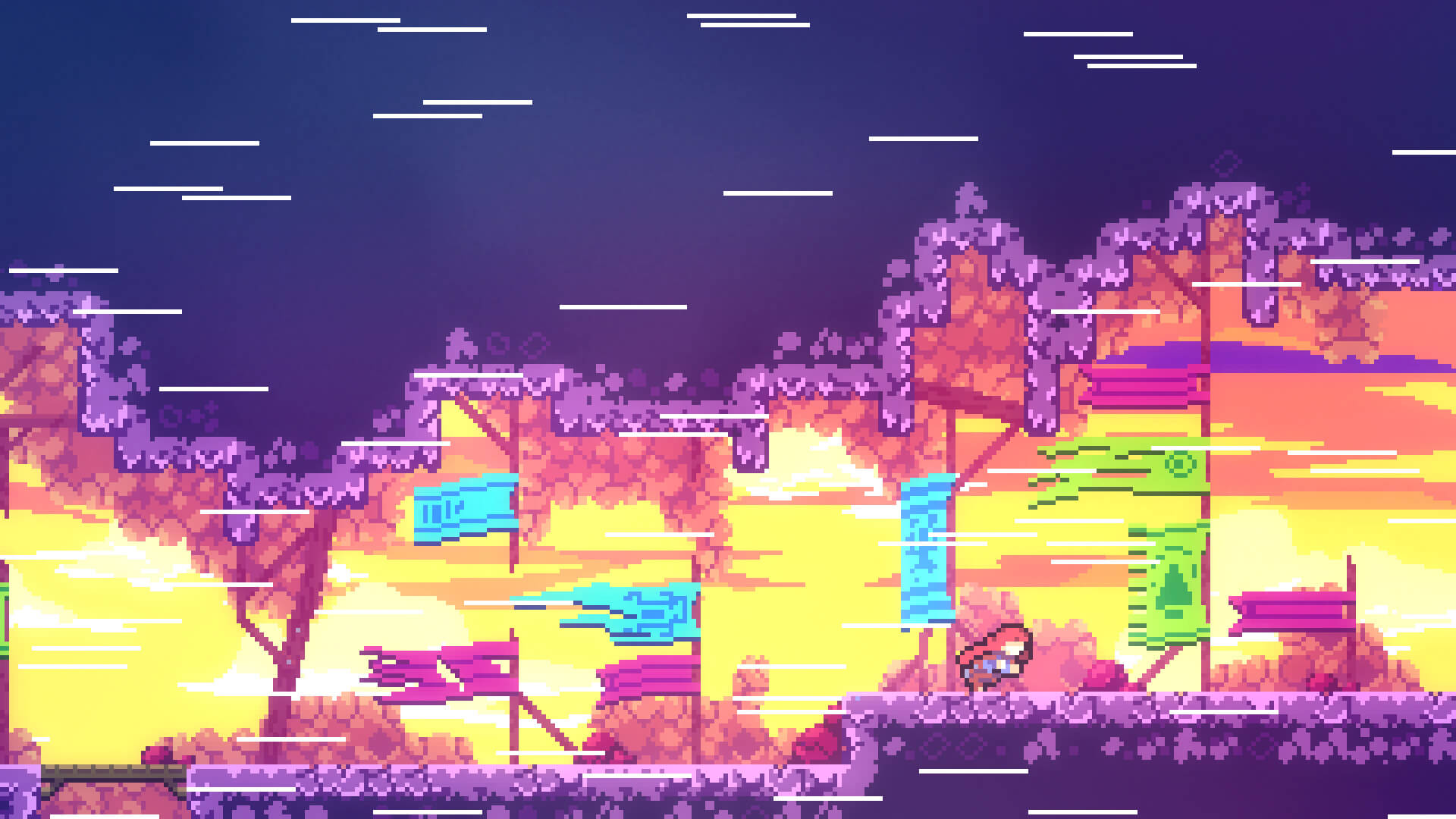 A still from Celeste, a game in which the protagonist fights her inner demons to move forward| Gamescapes | STIRworld
