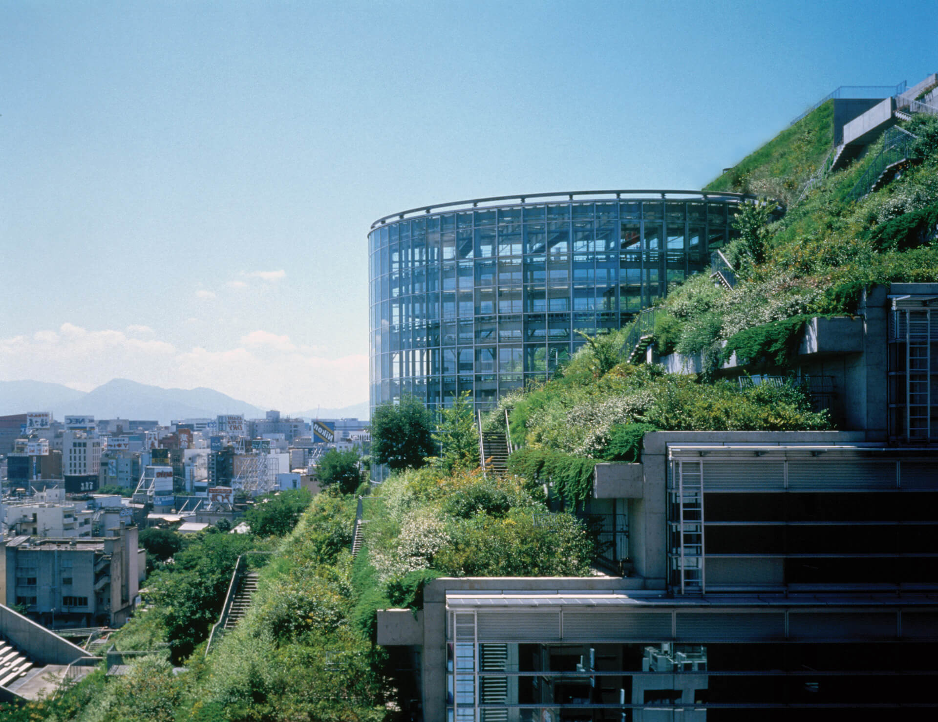 The sustainable structure is partly allocated to public programs and partly rented to revenue-producing entities | ACROS Fukuoka Prefectural International Hall | Emilio Ambasz | STIRworld