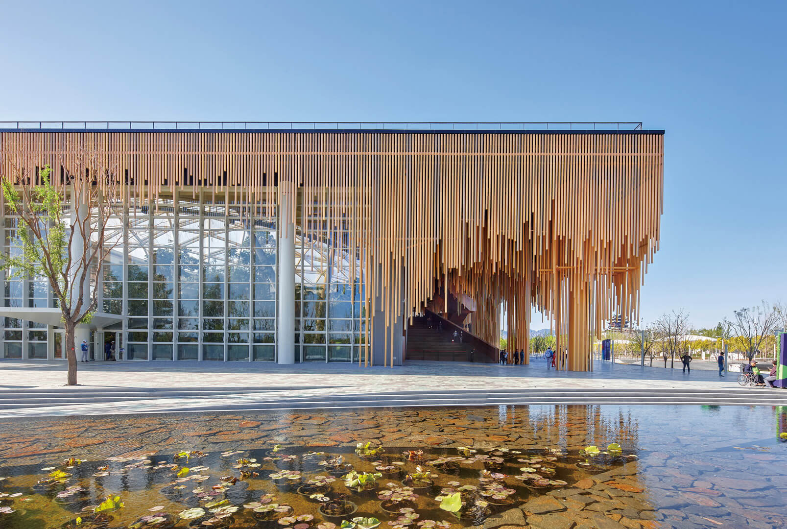 South façade of the Botanic Garden of International Horticultural Exhibition 2019, Beijing | Wang Hui | Urbanus | STIRworld