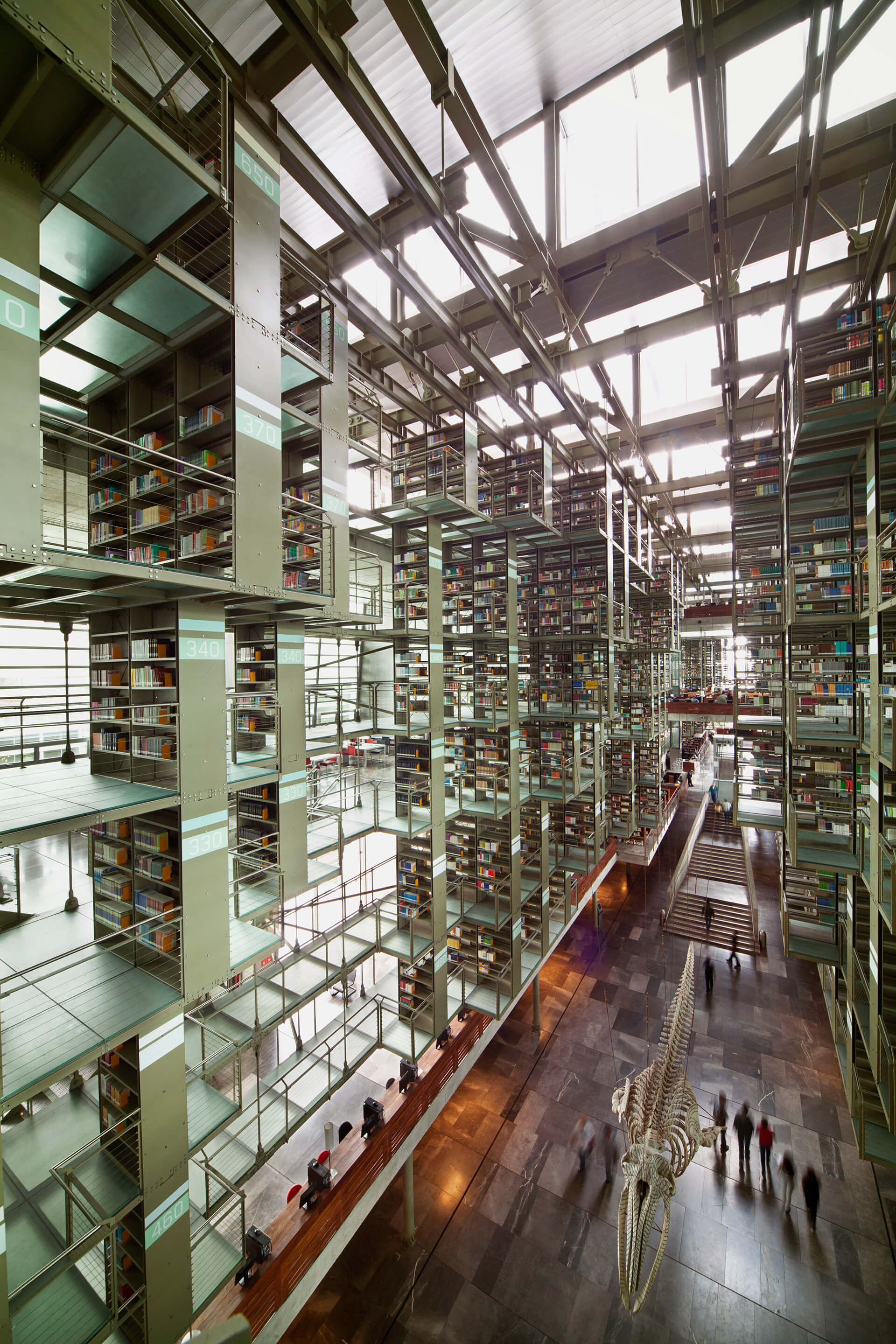 Alberto Kalach, Vasconcelos Library, Mexico City, 2008 (p. 393) | Modern Architecture: A Critical History by Kenneth Frampton | STIRworld