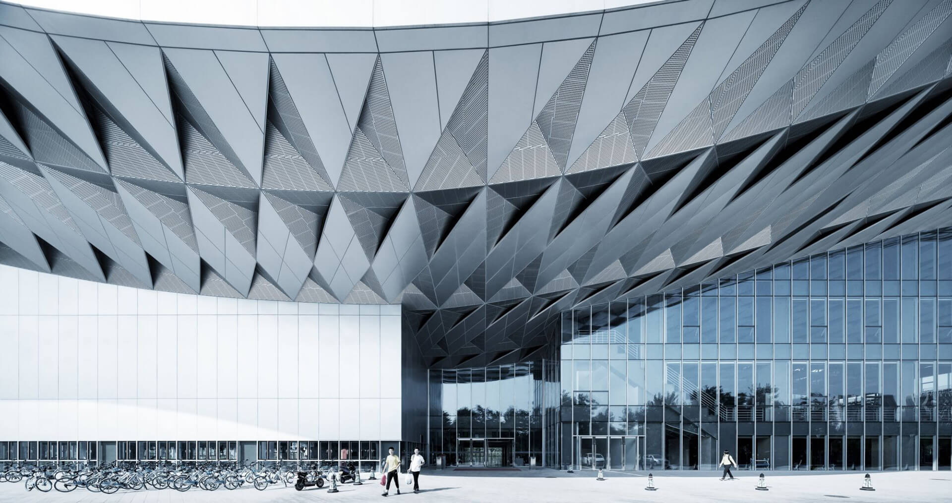 A more detailed look at the Sports Center's roof | Atelier Alter | Beijing | STIRworld