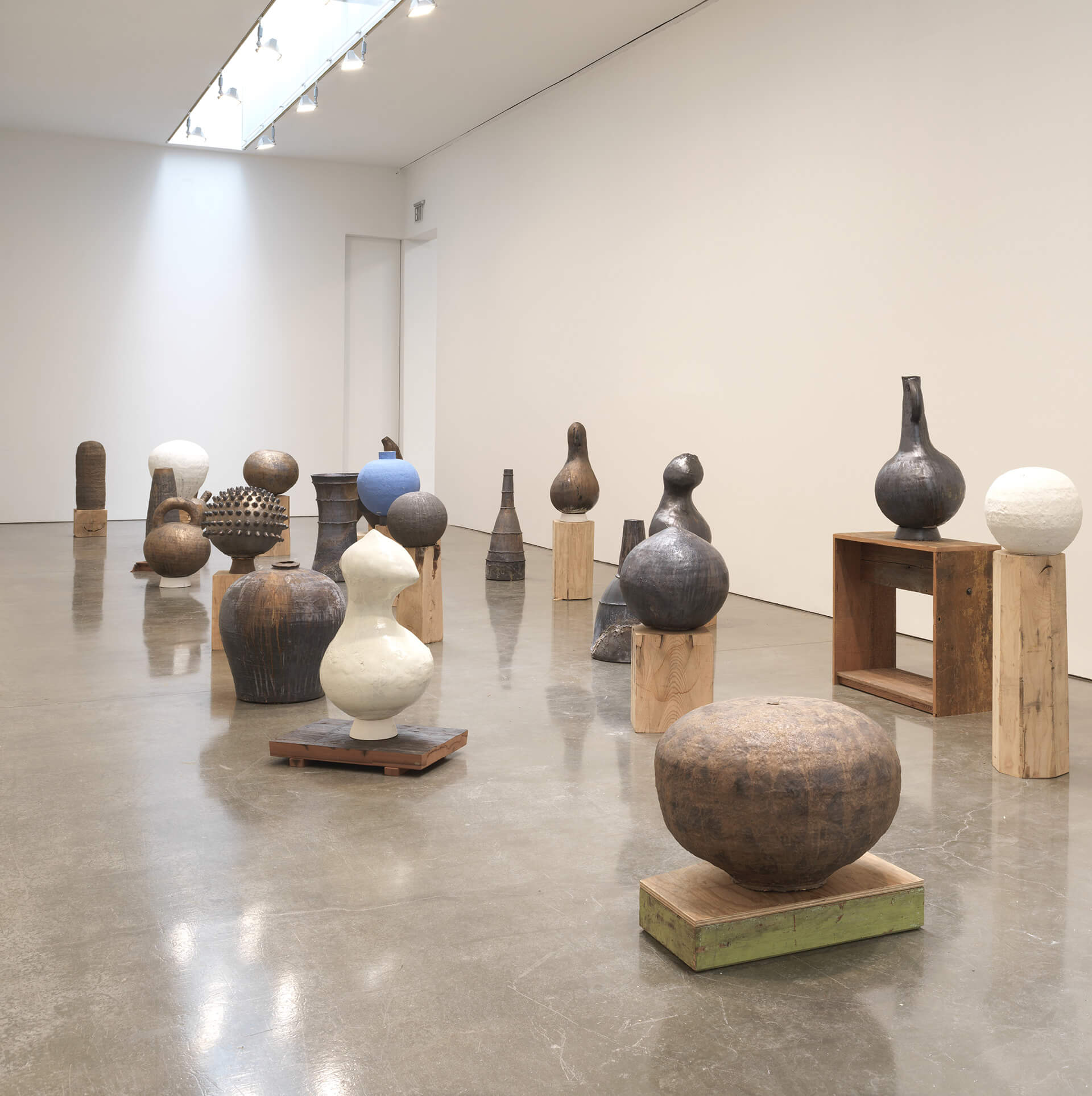 """In the case of these vessels, the atmosphere of the wood kiln—the Anagama—requires that you accept the unknown and surrender completely to what is possible,"" says Theaster Gates 