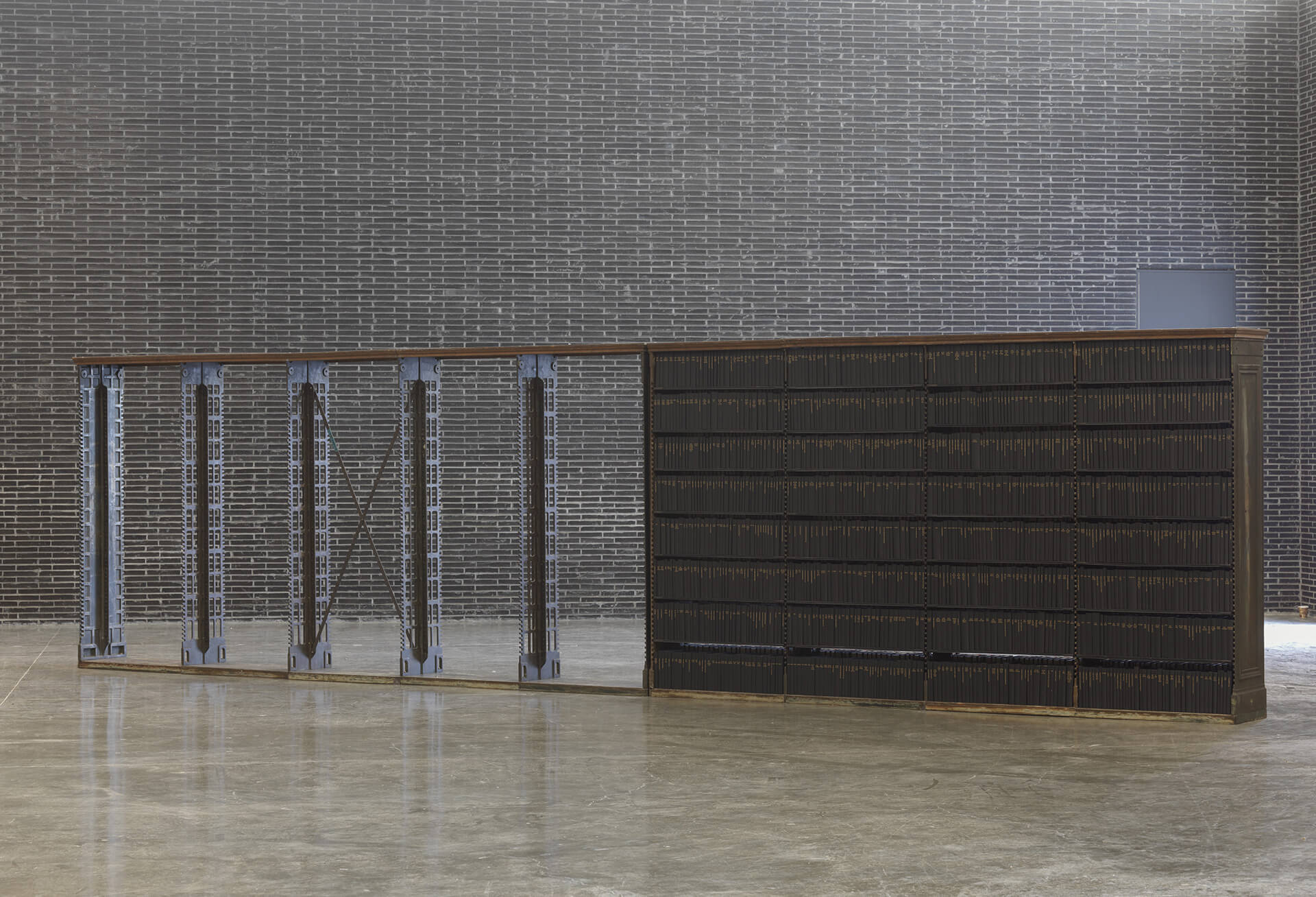 """... I chose to make my murmurings tangible, as if the shelves could hold my prayer,"" says Theaster Gates 