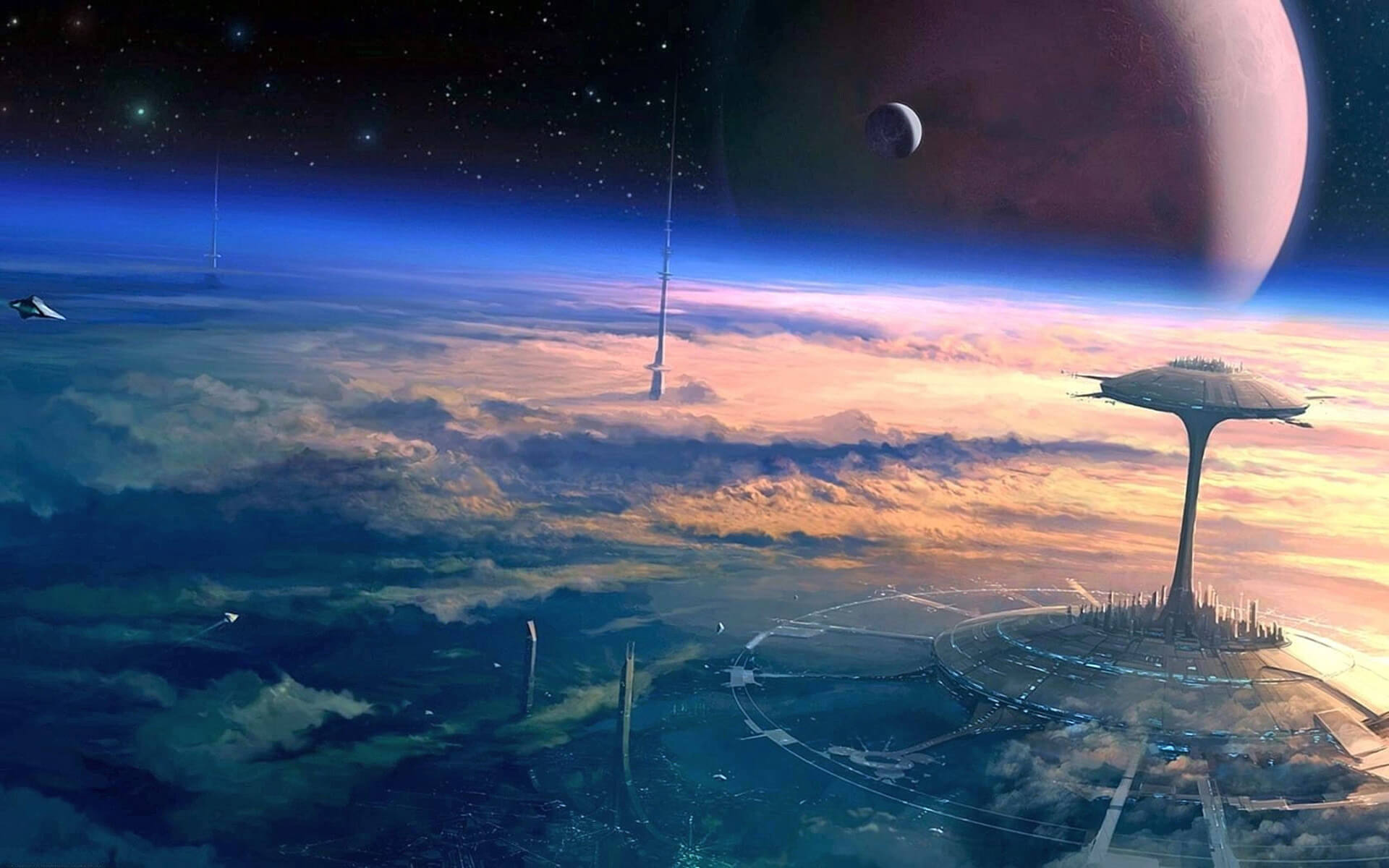 An image of what a future colony might look like | Digital Legacies: Simulation | STIRworld