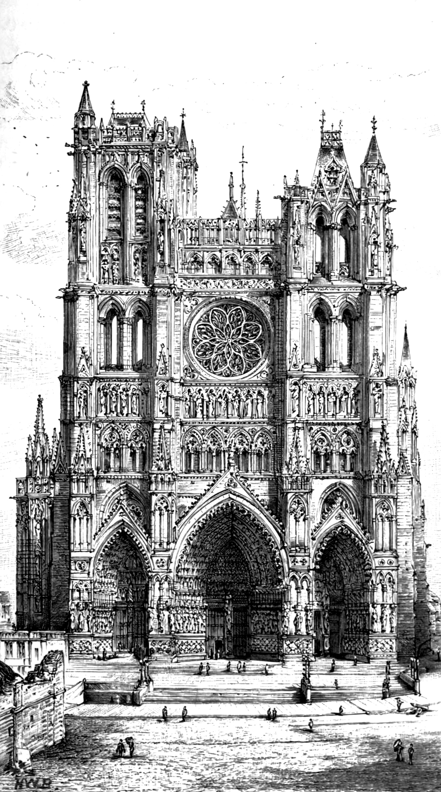 Façade of the Cathedral of Amiens, France | France | Paris | STIR