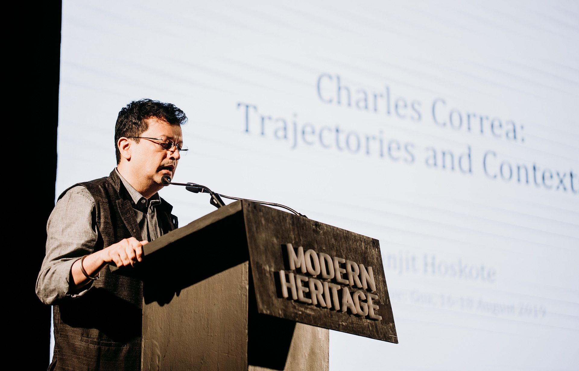 Ranjit Hoskote on the 'Works of Charles Correa' | Frame Conference | India | STIR