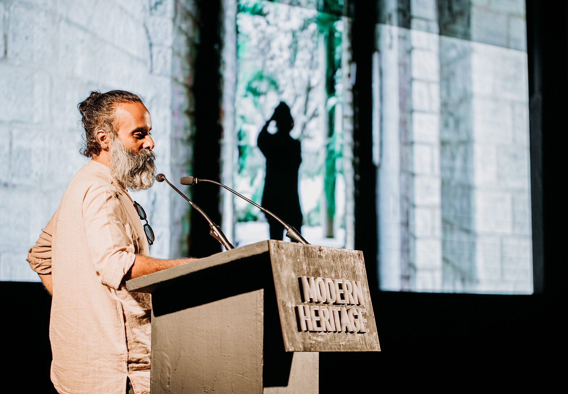 Premjit Ramachandran presenting the film directed by him on B V Doshi | Frame Conference | India | STIR