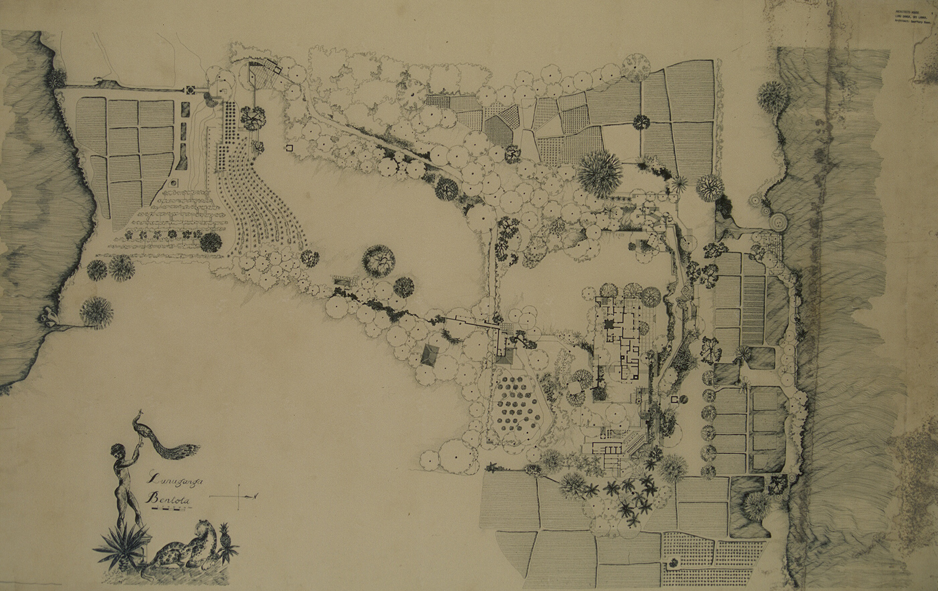 Plan of the garden at Lunuganga | Geoffrey Bawa | David Robson | STIR