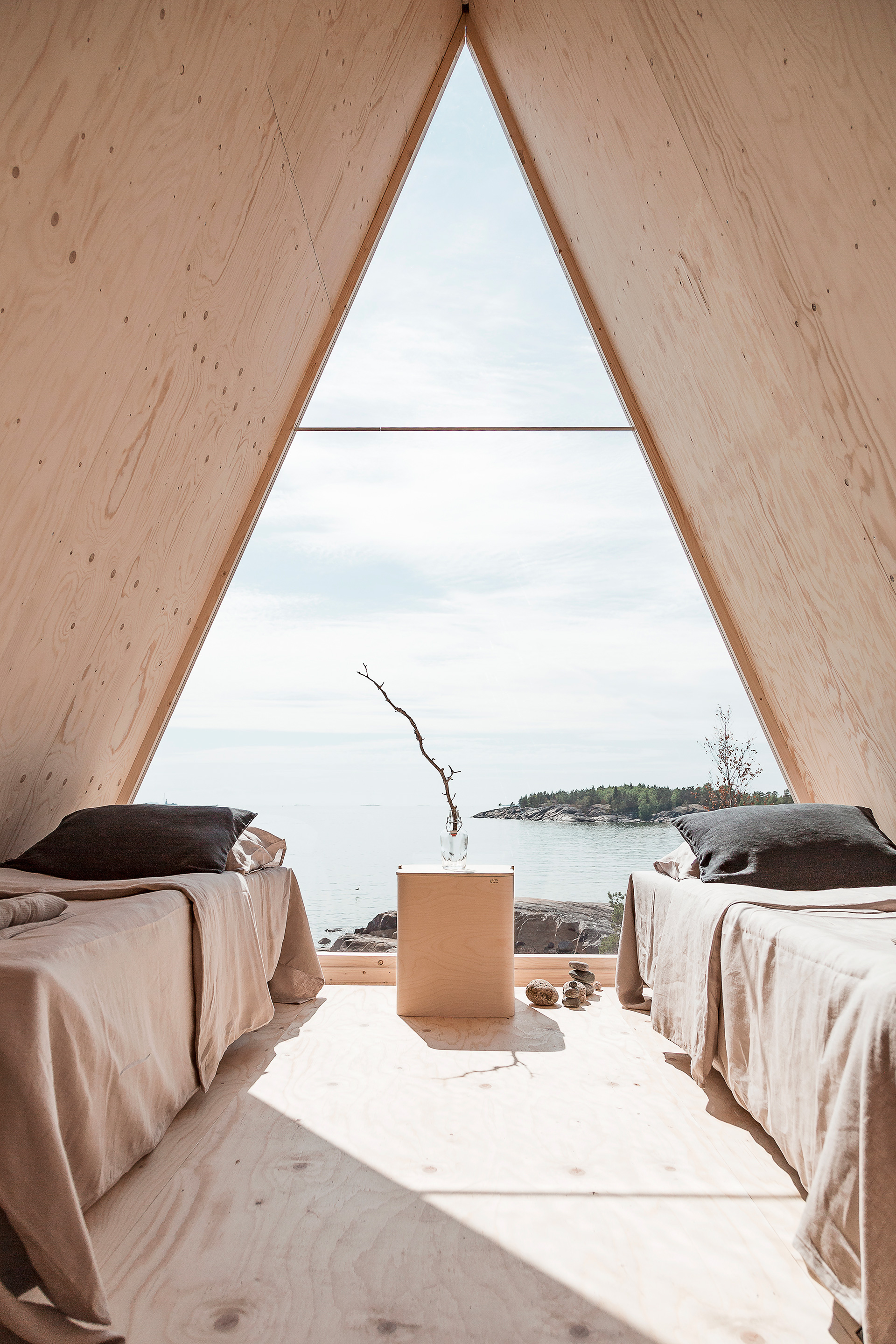 The cabin is the size of a small bedroom, with two camping beds and a stunning view outside| Diversity in living, a changing lifestyle| STIRworld