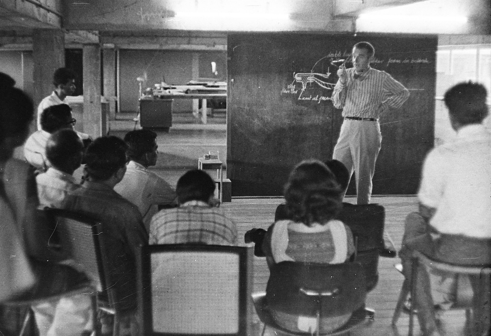 Charles Eames with students, c. 1964  | Design Education | Frame Conclave | Ashoke Chatterjee  | STIRworld