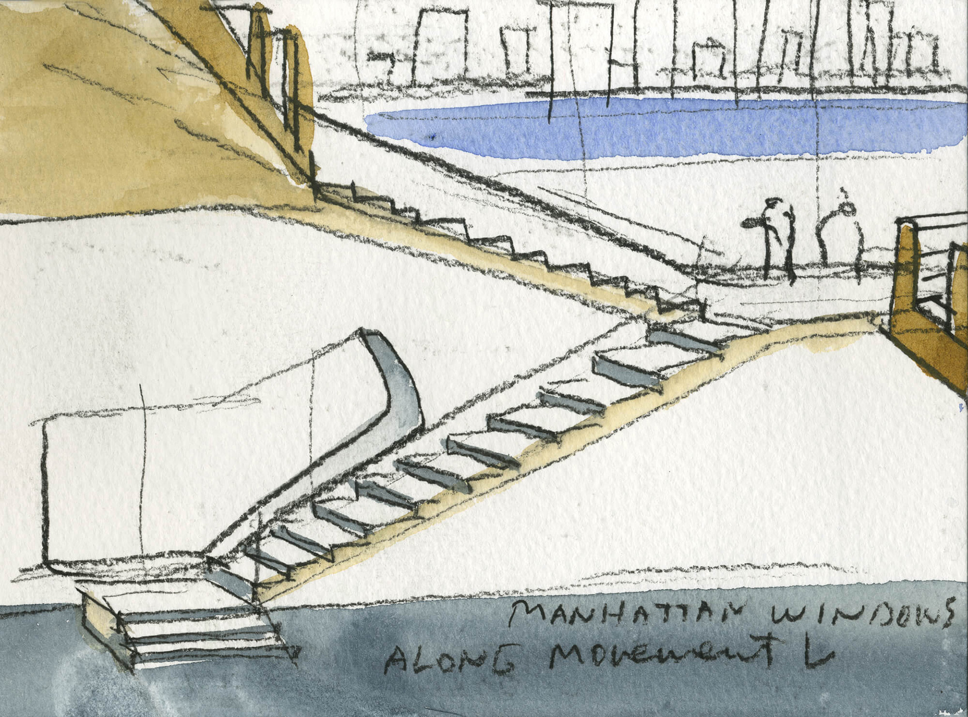 Sketch for The Hunters Point Library, Queens, New York | Steven Holl | Interview | Queens Library | Vladimir Belogolovsky | STIR
