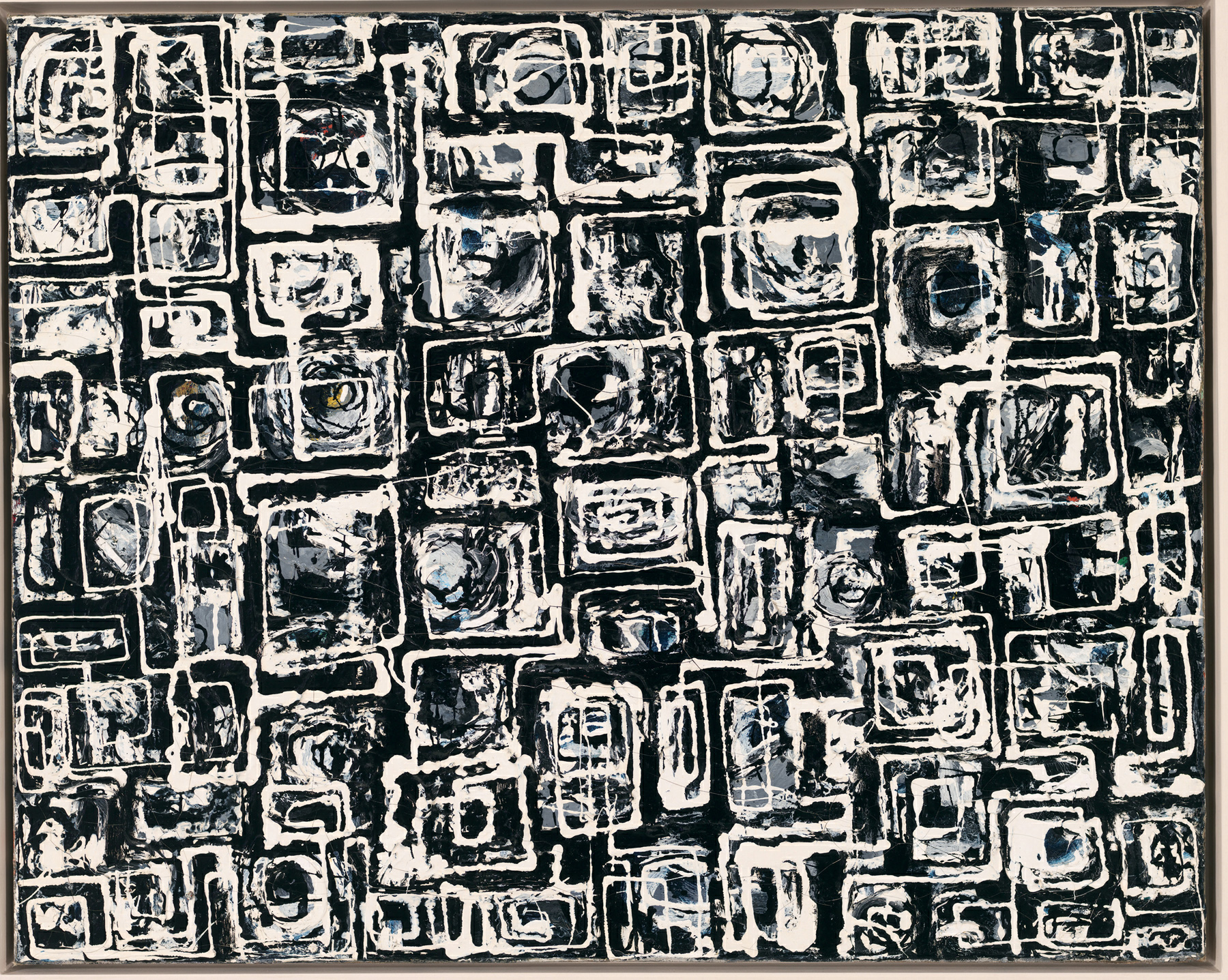 Lee Krasner, White Squares, ca. 1948, enamel and oil on canvas, 61.1 by 76.5 cm. The Whitney Museum of American Art, New York | Ninth Street Women | Five Painters and the Movement That Changed Modern Art | Little, Brown and Company | Mary Gabriel | STIRworld