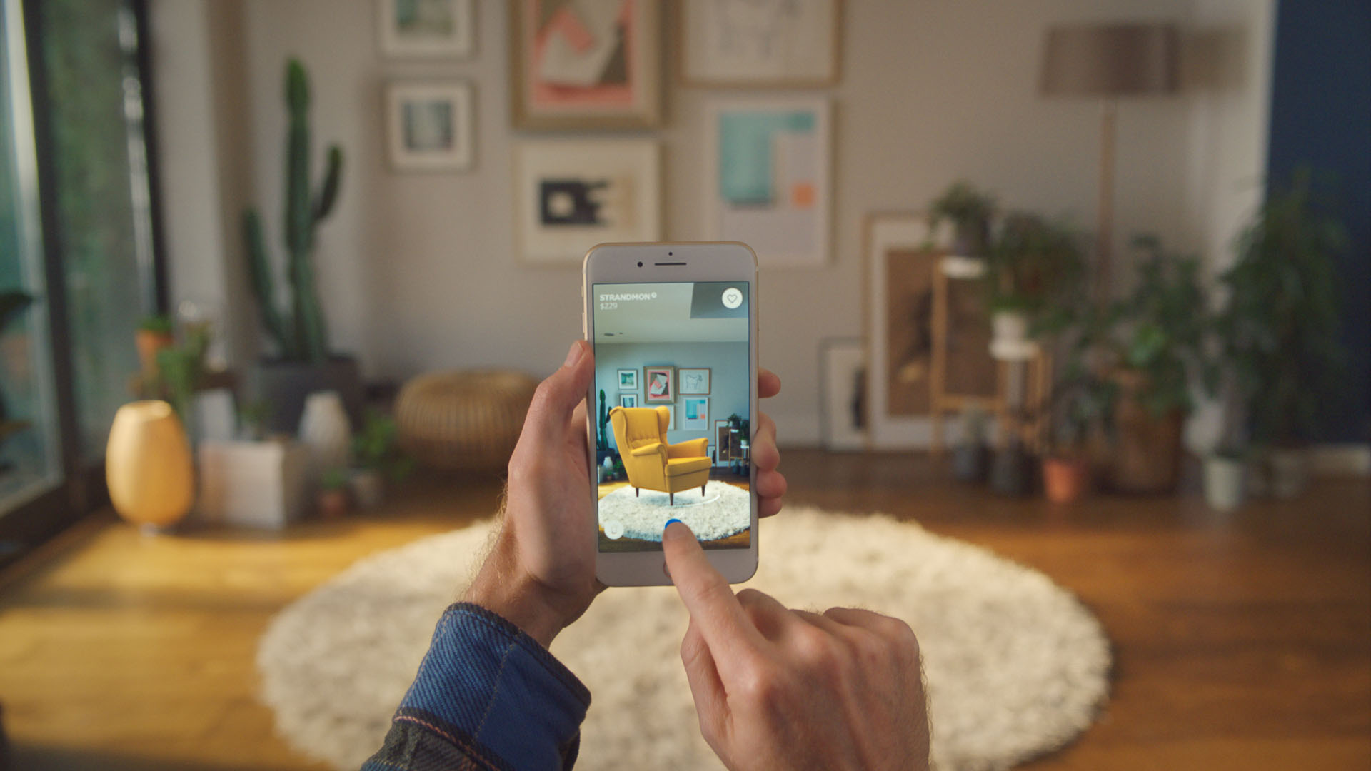 AI in apps like IKEA Place enables you to visually search for items you like and wait for the app to find the most matching products | The Augmented Human | SPACE10 | STIRworld