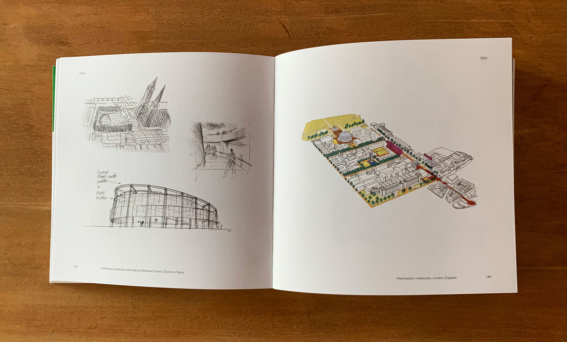 (L-R): Preliminary sketches; International Medieval Centre, Chartres, France and Albertopolis' masterplan, London, England | Portfolio | Foster + Partners | Julius Wiedemann |STIRworld