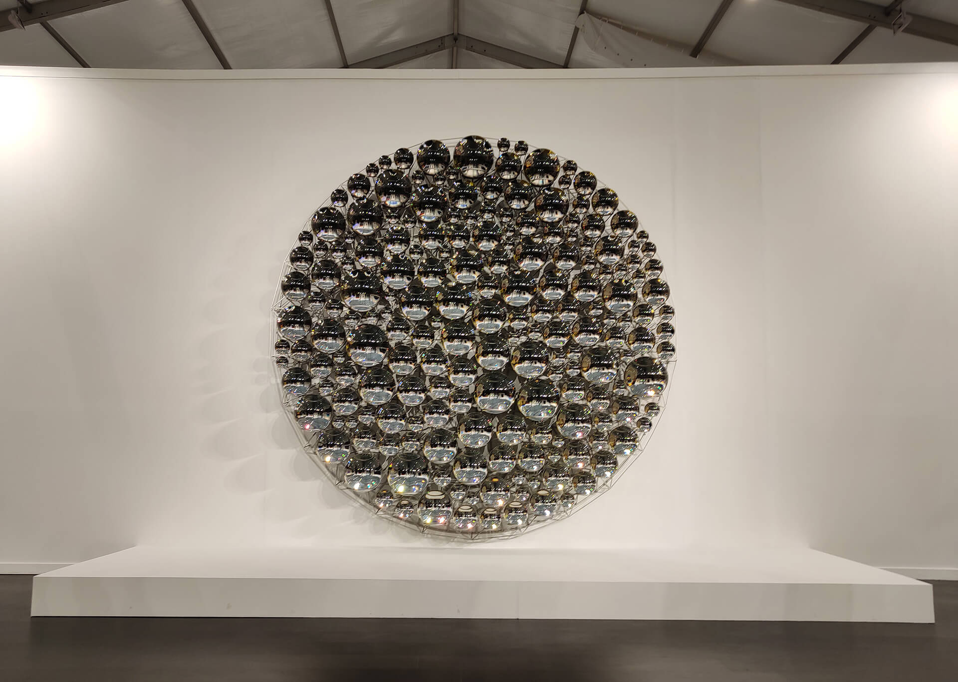 An artwork of Olafur Eliasson presented by Berlin-based gallery neugerriemschneide at the India Art Fair 2020, New Delhi | Olafur Eliasson | 10 trends in 10 years | India Art Fair | STIRworld