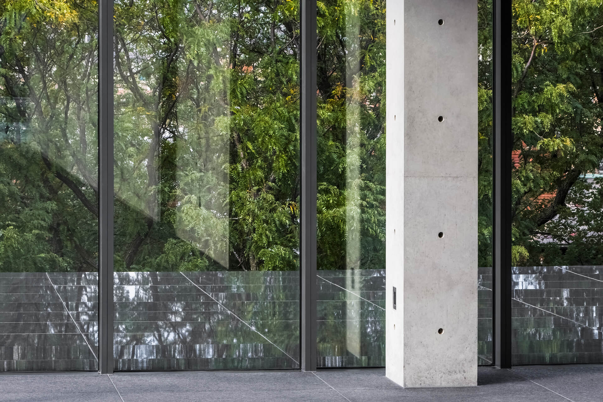 The space has been built as a composite structure of steel frame reinforced with both structural and non-bearing poured-in-place smooth-finish architectural concrete | Wrightwood 659 | Tadao Ando | STIRworld
