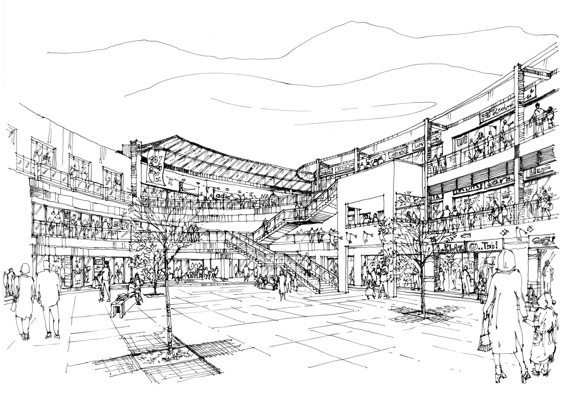Mobility, trade and respite - proposal for retail development | Great Wide Public Realm | STIRworld