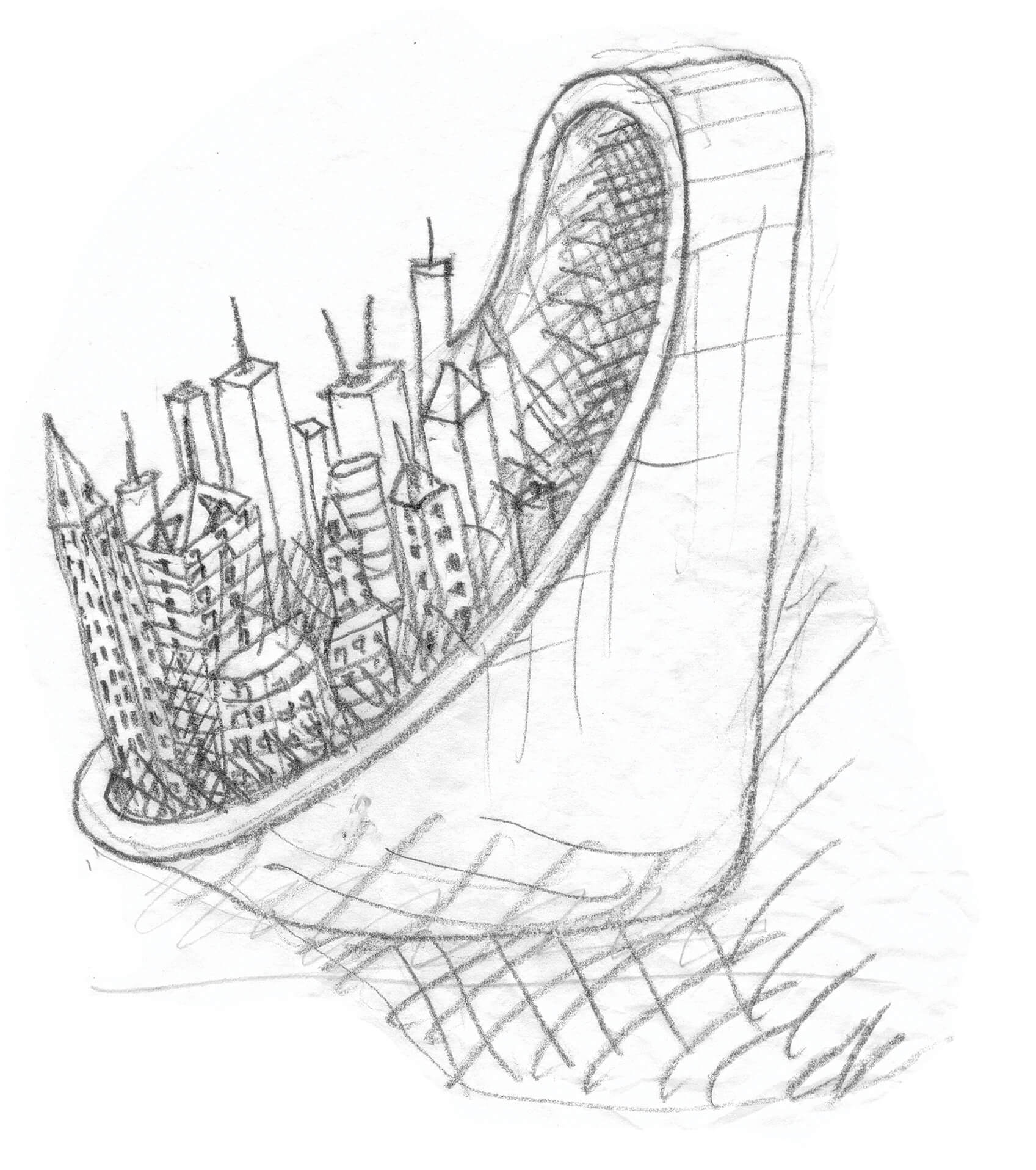 An architectural sketch by Gautam Bhatia | Supreme Court ruling on Architects Act | STIRworld