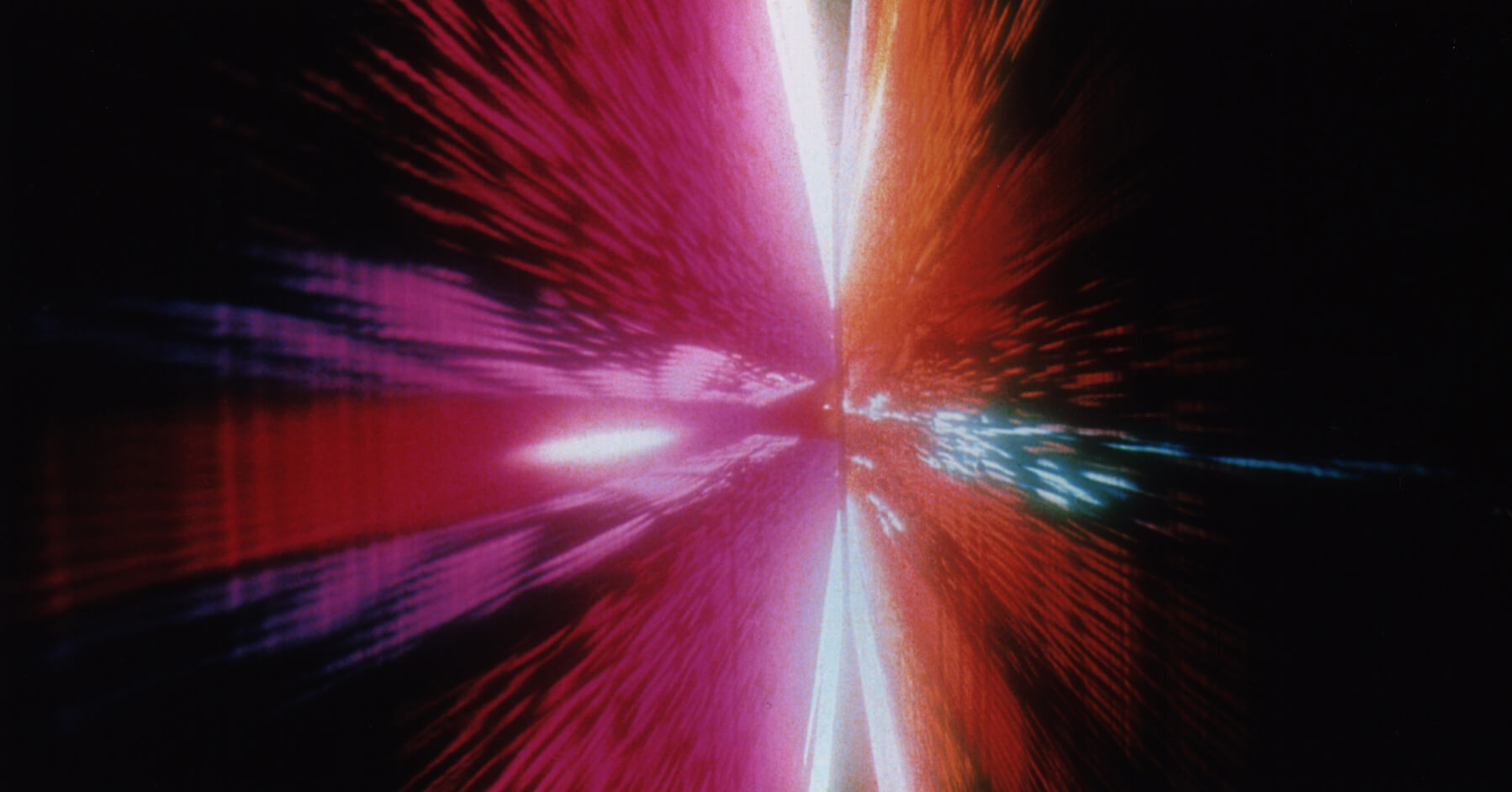 A still showing the Star Gate sequence, 2001: A Space Odyssey | Space Odyssey exhibition | Stanley Kubrick | STIRworld